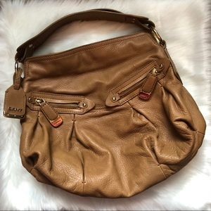 DKNY Brown Leather Handbag/Satchel